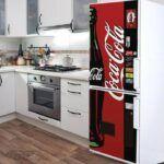 Vinilo coca cola nevera